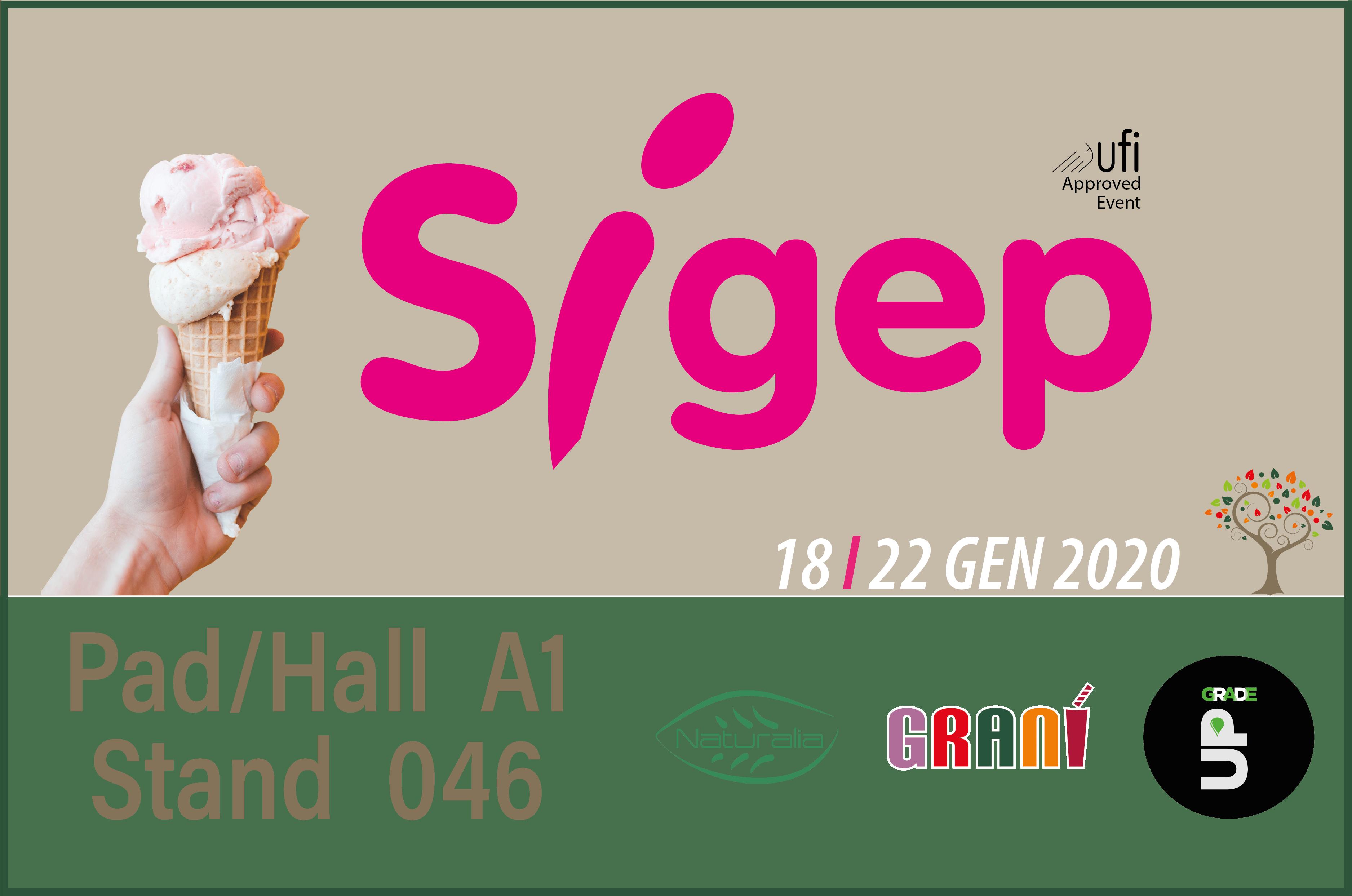 Le nostre fiere – SIGEP 2020 – Saremo presenti al 41° Salone Internazionale del Gelato